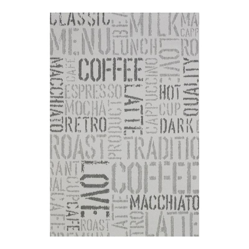 Covor modern Sintelon Adria, 160 x 230 cm, polipropilena, model text, Gri 2021 shopu.ro
