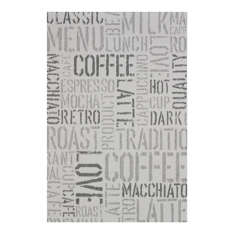 Covor modern Sintelon Adria, 190 x 290 cm, polipropilena, model text, Gri 2021 shopu.ro