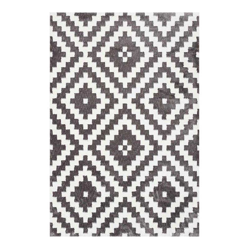 Covor modern Sintelon Creative, 140 x 70 cm, poliester, model geometric, Alb/Gri 2021 shopu.ro