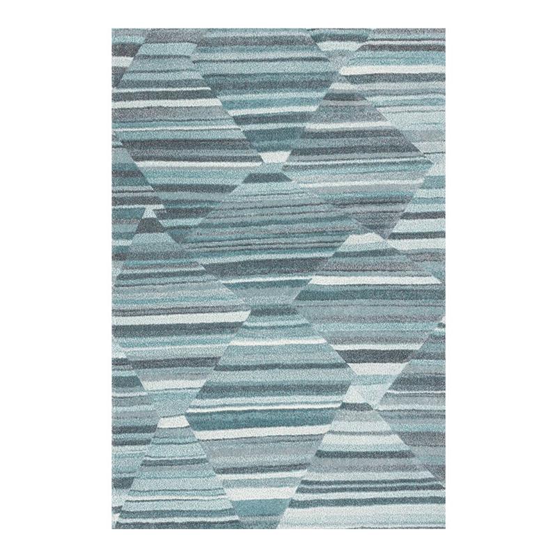 Covor modern Sintelon Pastel, 160 x 230 cm, polipropilena, model geometric, Albastru shopu.ro
