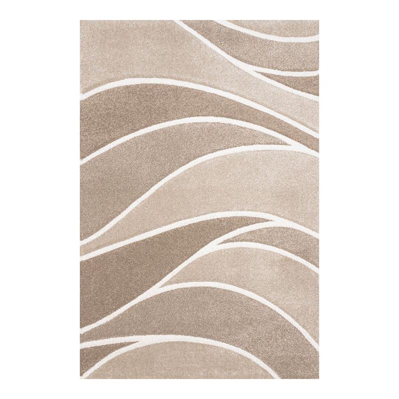 Covor modern Sintelon Vegas Home, 200 x 290 cm, polipropilena, model geometric, Bej shopu.ro
