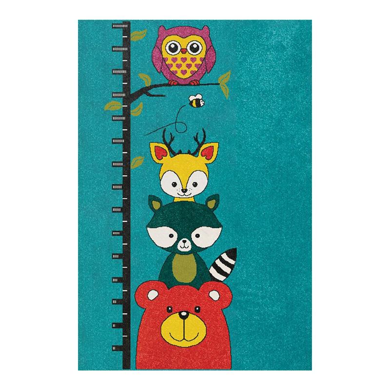 Covor pentru camera copiilor Sintelon Play, 160 x 230 cm, polipropilena, model animale, Multicolor 2021 shopu.ro