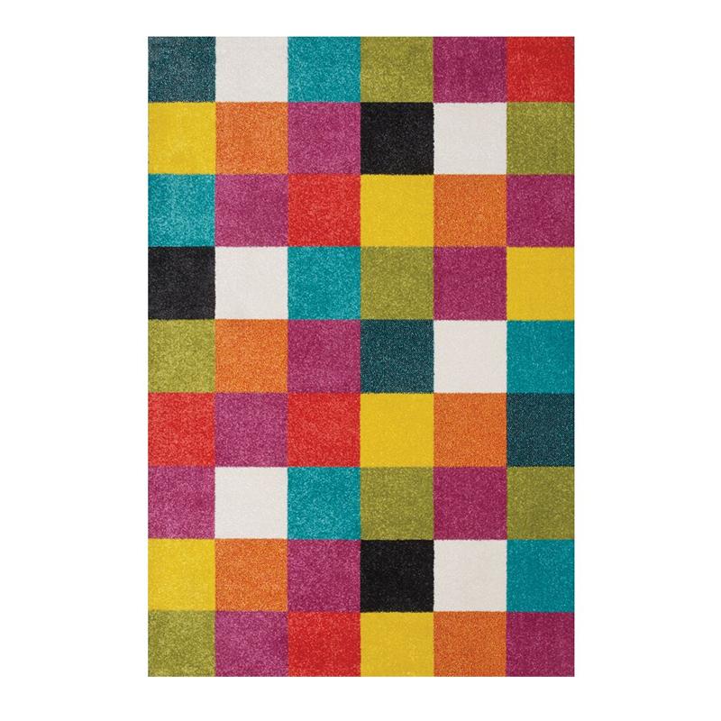 Covor pentru camera copiilor Sintelon Play 08AMP, 160 x 230 cm, polipropilena, model geometric, Multicolor