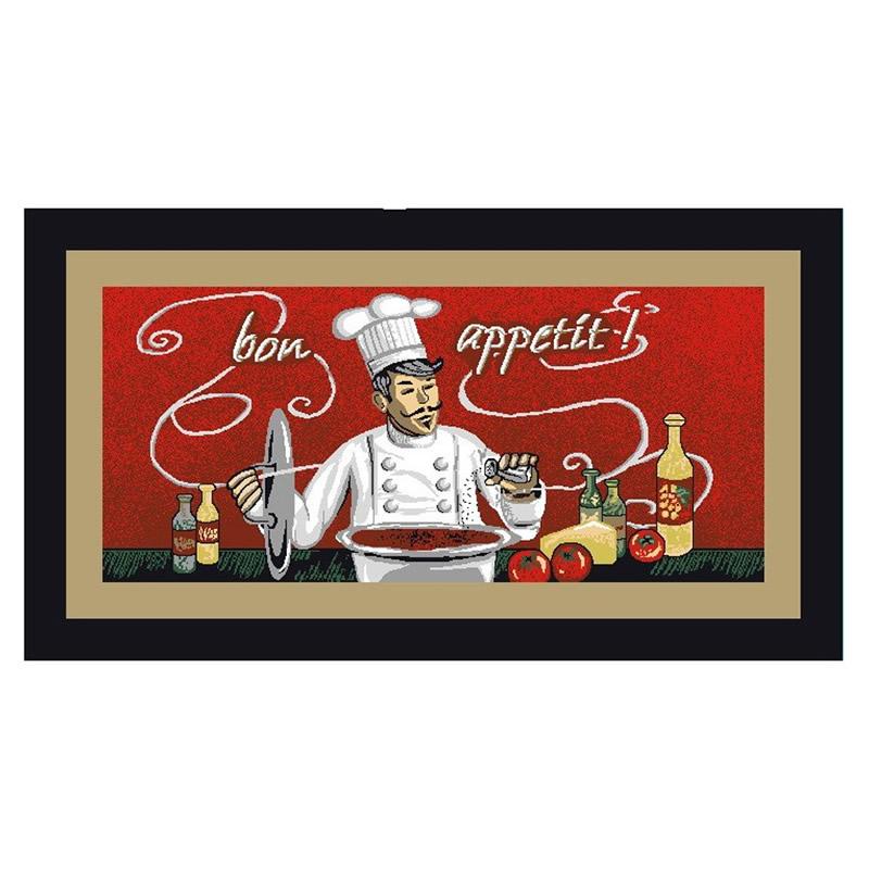Covoras bucatarie Davo Pro Chef, dreptunghiular, multicolor, 67 x 120 cm 2021 shopu.ro