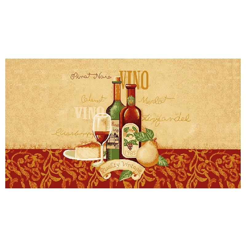 Covoras bucatarie Davo Pro Vino, dreptunghiular, multicolor, 67 x 120 cm 2021 shopu.ro