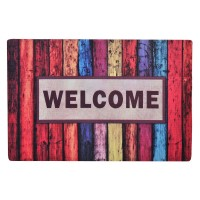 Covoras cauciuc Welcome, 40 x 60 cm, Multicolor