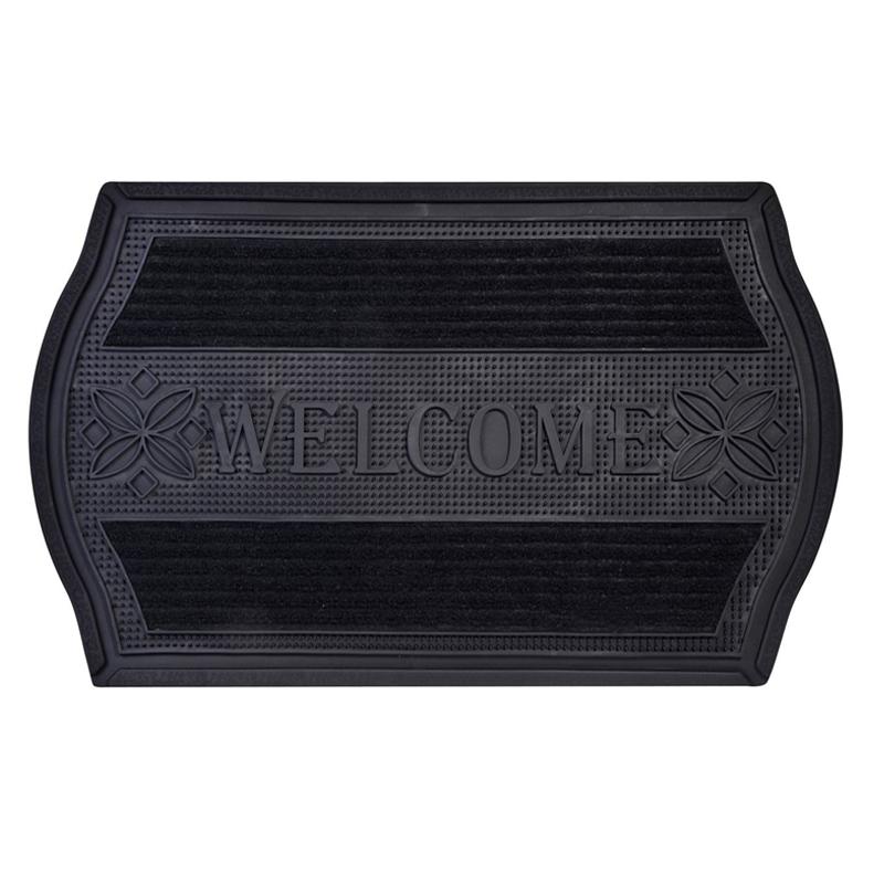 Covoras cauciucat intrare, 45 x 75 cm, mesaj Welcome
