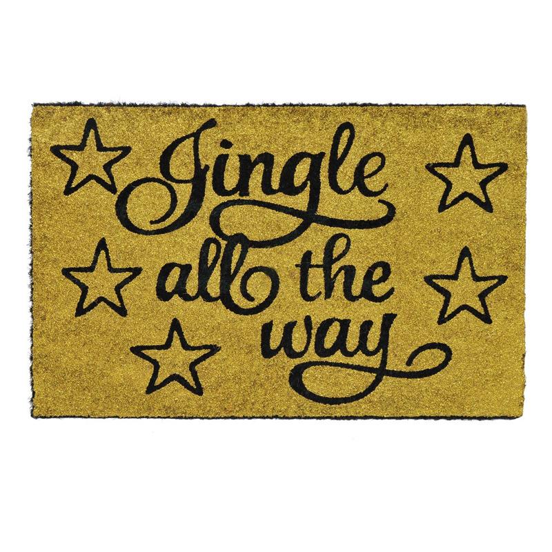 Covoras decorativ de Craciun, 60 x 40 cm, mesaj Jingle All The Way 2021 shopu.ro