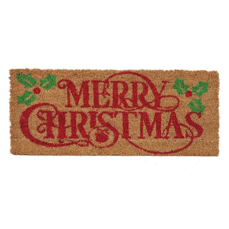Covoras intrare Merry Christmas, 25 x 60 cm, fibre cocos 2021 shopu.ro