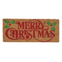 Covoras intrare Merry Christmas, 25 x 60 cm, fibre cocos
