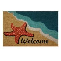Covoras intrare Welcome, 40 x 60 cm, model plaja