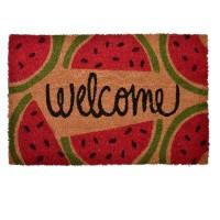 Covoras intrare Welcome, 40 x 61 cm, imprimeu pepene