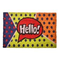 Covoras intrare, 40 x 61 cm, mesaj Hello