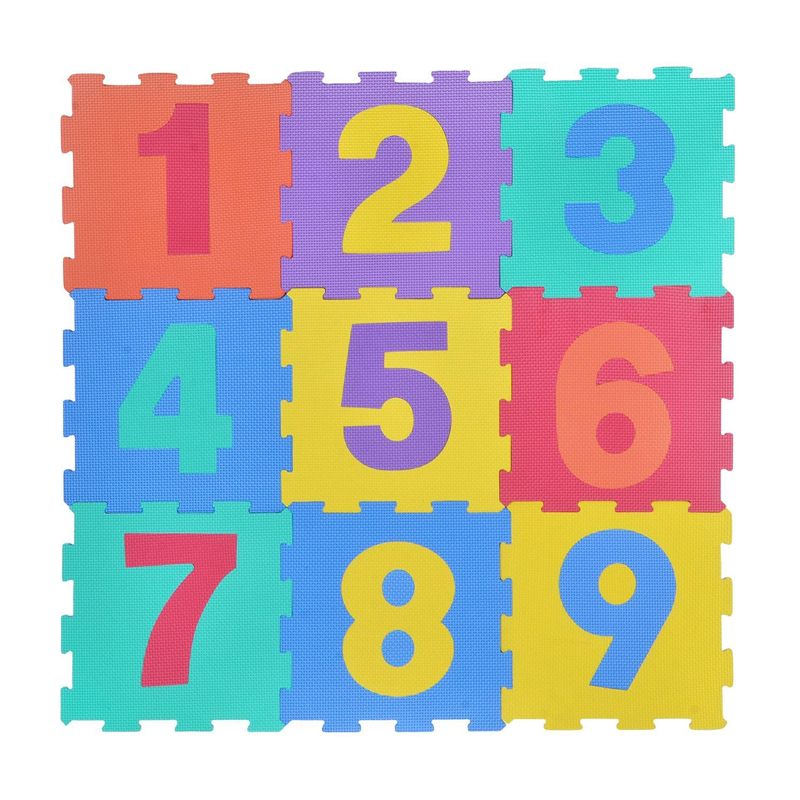 Covoras tip puzzle, 31.5 x 31.5 cm, 9 piese, model numere 2021 shopu.ro