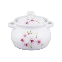 Cratita ceramica Vabene, 1.8 l, 23 cm, model floral