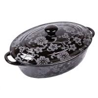 Cratita ceramica Vabene, 23 cm, 1.4 l, Negru