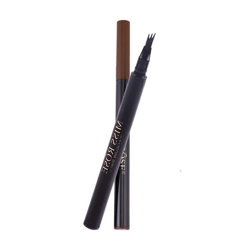 Creion pentru sprancene Miss Rose, 3 varfuri, rezistent la apa, Maro 2021 shopu.ro