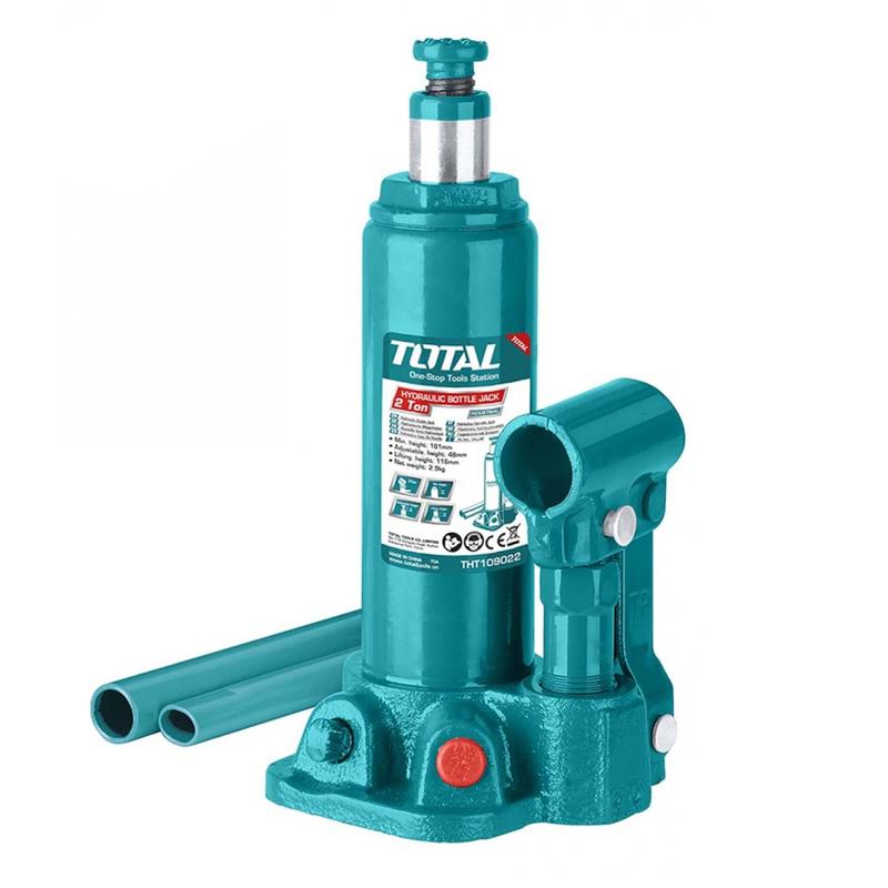 Cric hidraulic auto Total Industrial, 2 tone, supapa siguranta, tip butelie 2021 shopu.ro