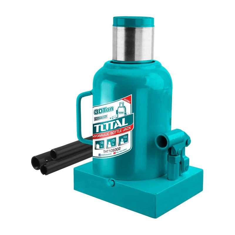 Cric hidraulic auto Total, 30 tone, 285 - 465 mm, tip butelie 2021 shopu.ro
