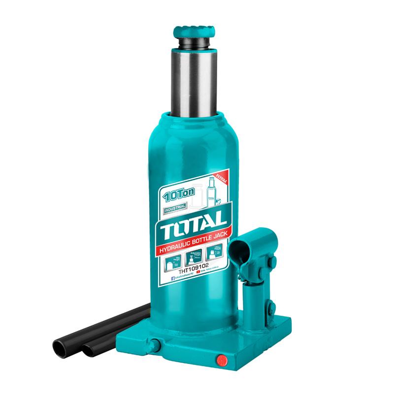 Cric hidraulic tip butelie Total, 10 tone, inaltime 230-460 mm 2021 shopu.ro