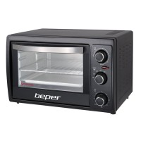 Cuptor electric Beper, 2000 W, 55 l, 230 C, 4 programe, Negru