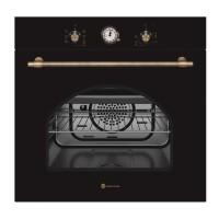 Cuptor electric incorporabil Studio Casa Dolce Vita Rustic, 2300 W, 56 l, Clasa A, 6 functii, Grill, Ventilator, Negru