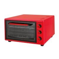 Cuptor electric Hausberg, 1400 W, 42 l, termostat/cronometru, maxim 320 C, accesorii incluse, Rosu
