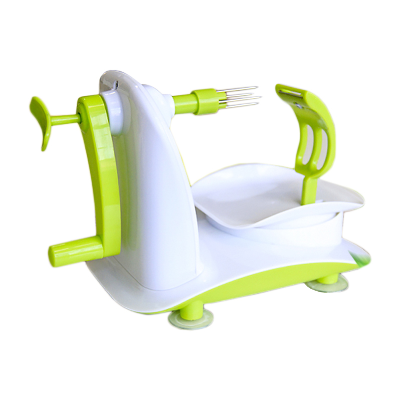 Curatator de mere mecanic 2 in 1 Apple Peeler, Alb/Verde 2021 shopu.ro