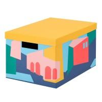 Cutie cu capac pentru depozitare, 25 x 35 x 20 cm, Multicolor