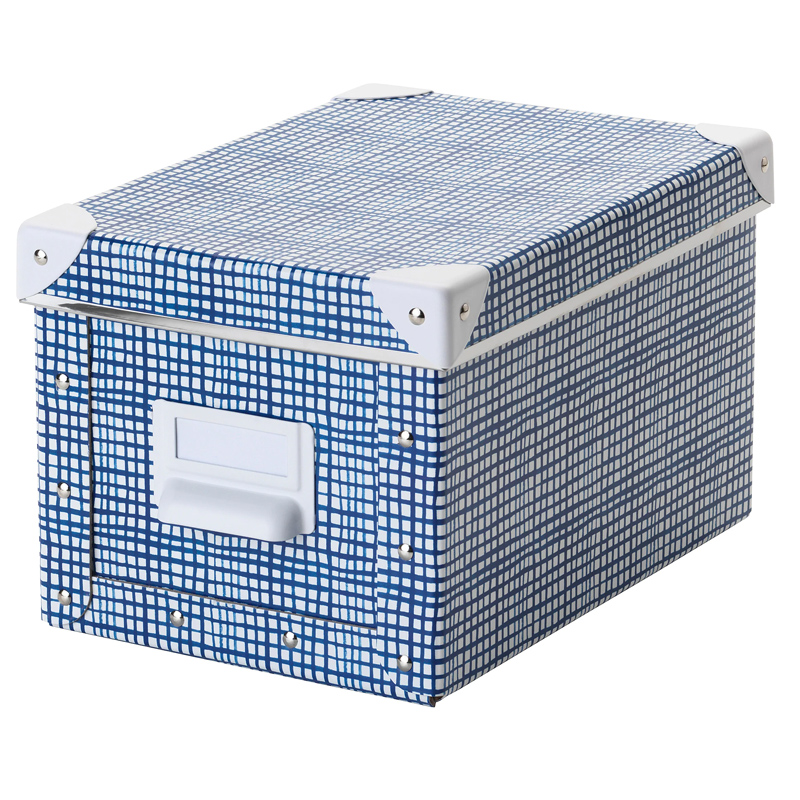 Cutie depozitare cu capac, 18 x 26 x 15 cm, Albastru/Alb 2021 shopu.ro