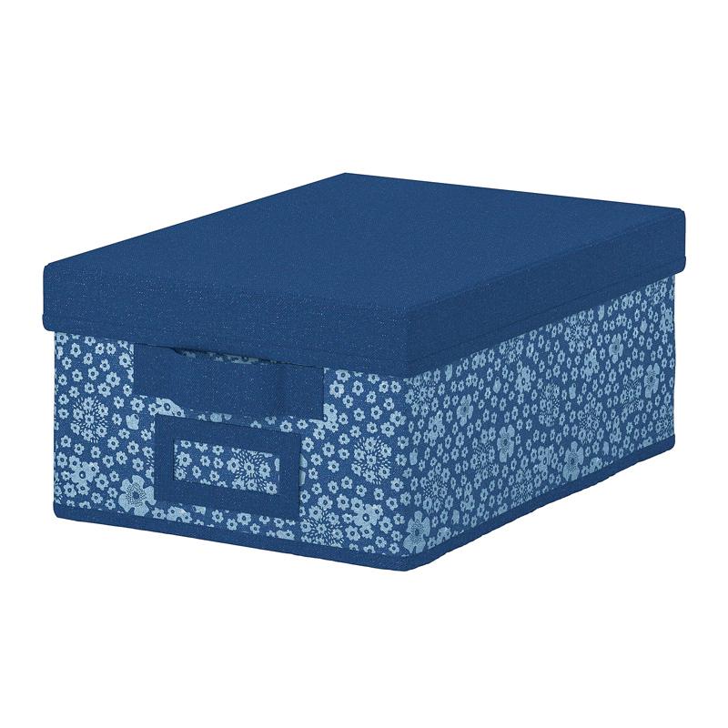 Cutie depozitare cu capac, 25 x 35 x 15 cm, Albastru/Alb 2021 shopu.ro