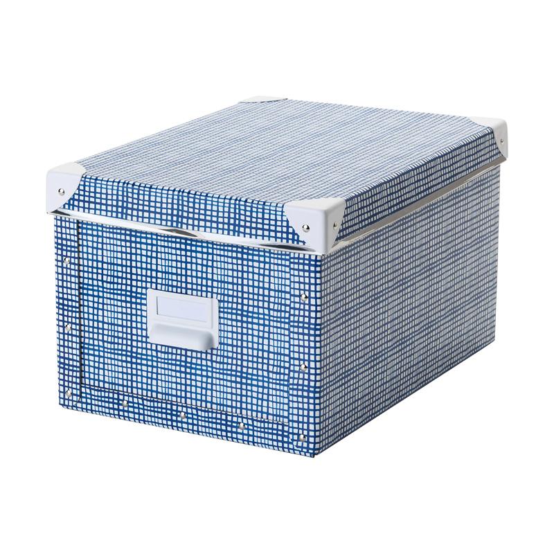 Cutie depozitare cu capac, 25 x 36 x 20 cm, Albastru/Alb 2021 shopu.ro