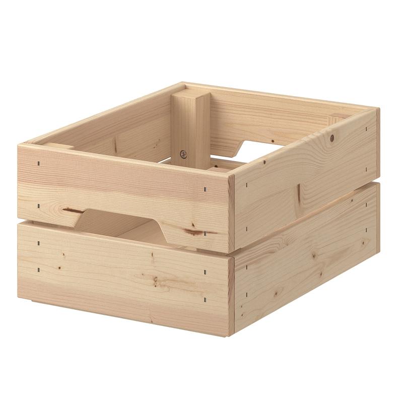 Cutie depozitare din lemn, 23 x 31 x 15 cm, manere laterale shopu.ro