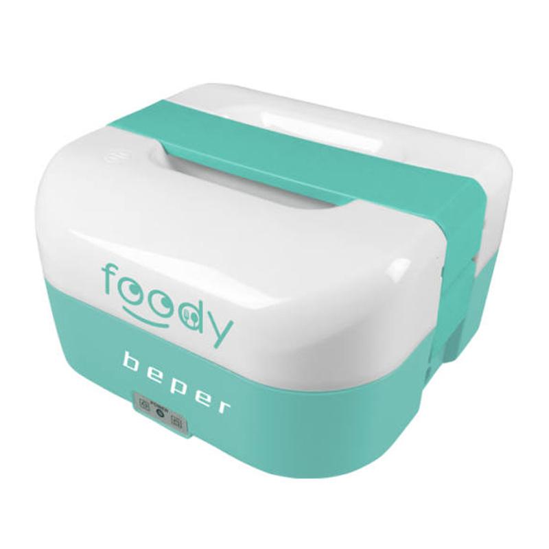 Cutie electrica pentru alimente Foody Beper, 35/50 W, 1600 ml, alimentare auto, Verde 2021 shopu.ro