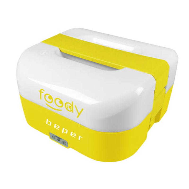 Cutie electrica pentru alimente Foody Beper, 35/50 W, 1600 ml, alimentare auto, Galben 2021 shopu.ro