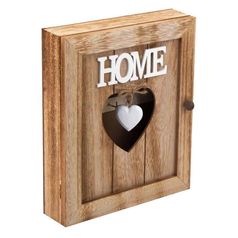 Cutie lemn pentru chei, 21 x 6 x 26 cm, mesaj Home shopu.ro