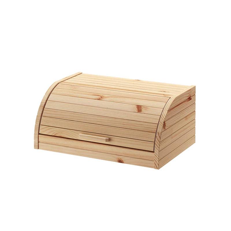 Cutie lemn pentru paine, 40 x 26 x 17 cm, bej 2021 shopu.ro