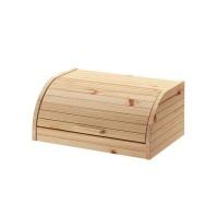 Cutie lemn pentru paine, 40 x 26 x 17 cm, bej