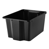 Cutie plastic pentru depozitare, 28 x 38 x 20 cm, Negru