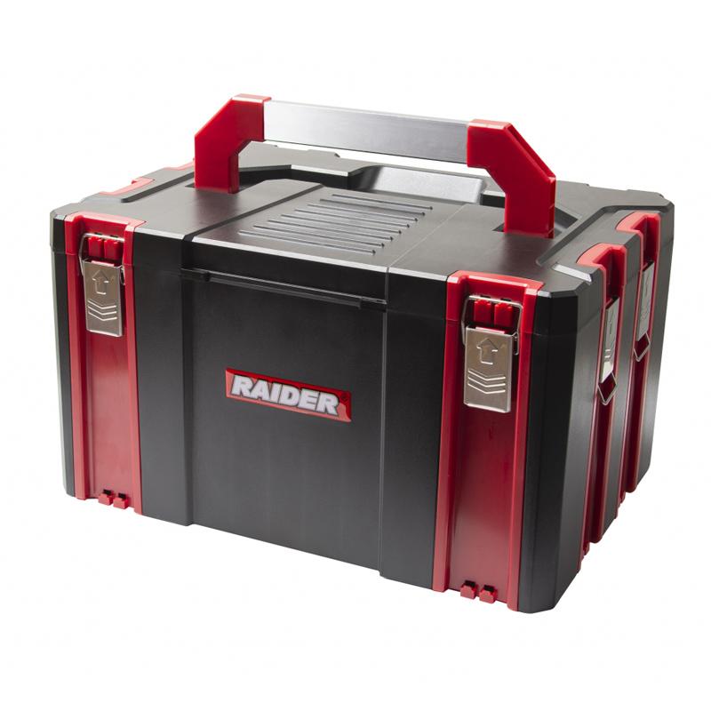 Cutie scule pentru sistem modular mobil Raider, 44 х 32 х 25.5 cm, manere pliabile