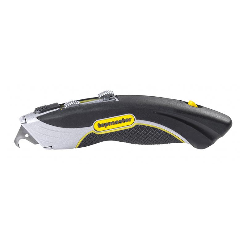 Cutter multifunctional Top Master Pro, 180 mm, lama trapezoidala, tip carlig 2021 shopu.ro