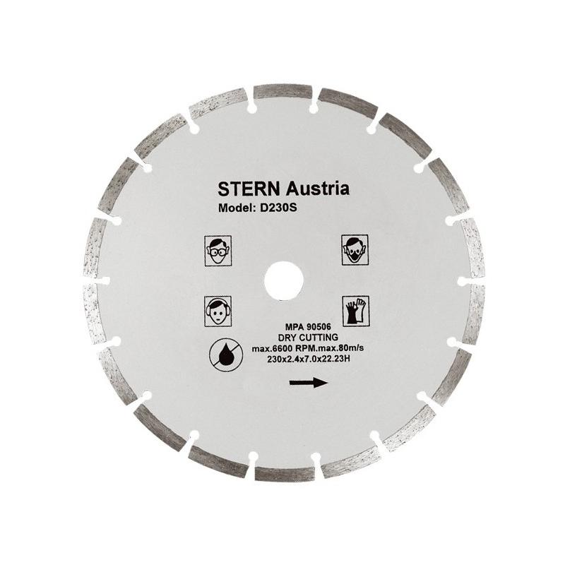 Disc diamantat D230S Stern, taiere uscata, 230 mm shopu.ro