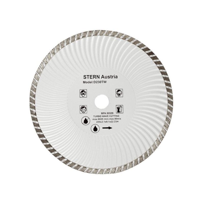 Disc diamantat D230TW Stern, taiere uscata si umeda, 230 mm 2021 shopu.ro