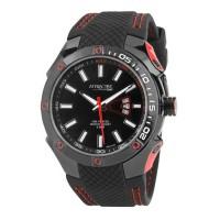 Ceas Q&Q Attractive Black & Red, lungime reglabila