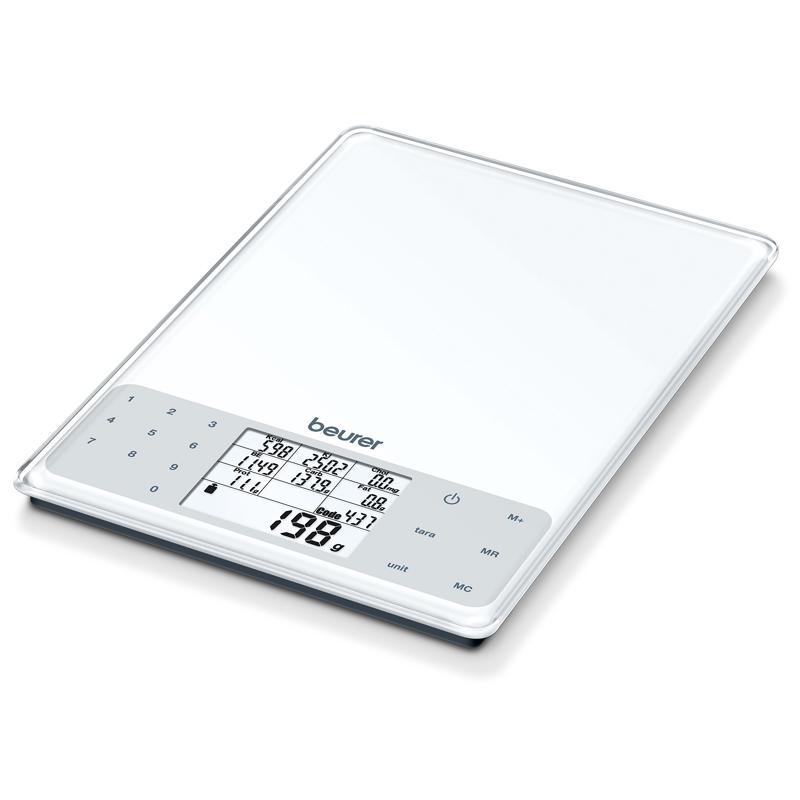 Cantar dieta Beurer DS61, 5 kg, LCD, 99 memorii, functie Tara 2021 shopu.ro