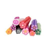 Set decoratiuni fimo pentru unghii, 50 bucati, model floral