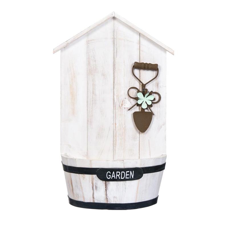 Ghiveci decorativ pentru flori, 42 cm, tip casuta 2021 shopu.ro