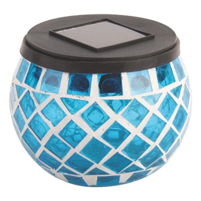 Decoratiune solara Hoff TH059, tip candela, plastic, mozaic, LED, 9 cm shopu.ro