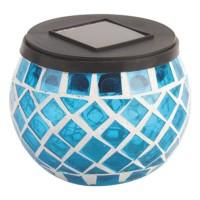 Decoratiune solara Hoff TH059, tip candela, plastic, mozaic, LED, 9 cm