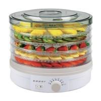 Deshidrator alimente Beper, 245 W, capacitate 5 kg, 5 compartimente